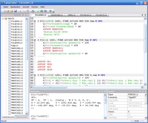 Der fanuc editor schnelles offline programmieren von robotern